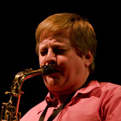 Jim Cutler playing saxophone