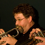 Pete Kirkman playing trumpet