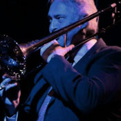 Todd Crooks playing trombone